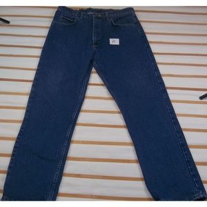 Men's 36x32 deep blue jeans 5 pocket EUC